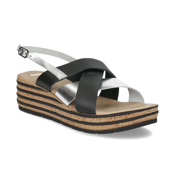 f0defd0f32 Bata Kožené dámske sandále na platforme - Ženy