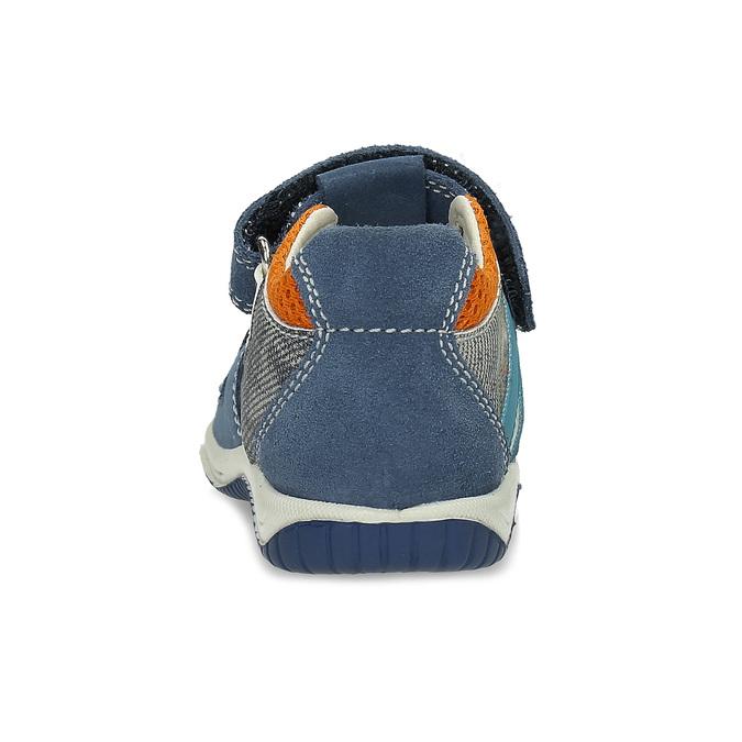 f20926e32 Modré kožené detské sandále na suchý zips bubblegummers, modrá, 163-9630 -  15