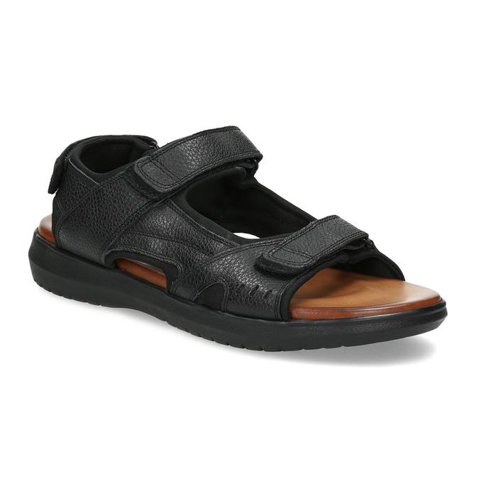 Pánske sandále kožené comfit, čierna, 864-6732 - 13