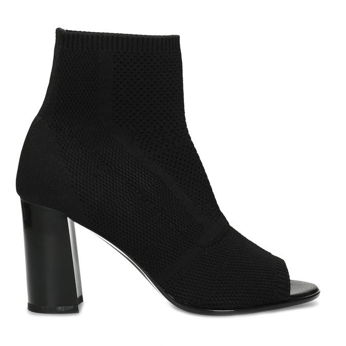 Čierne dámske čižmy na stabilnom podpätku bata-b-flex, čierna, 799-6646 - 19