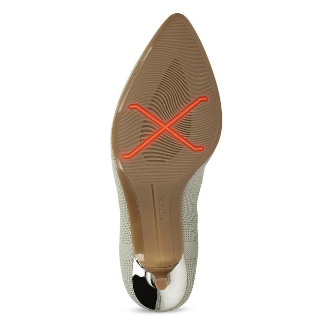 Dámske členkové topánky s metalickým podpätkom bata-b-flex, šedá, 799-2648 - 18