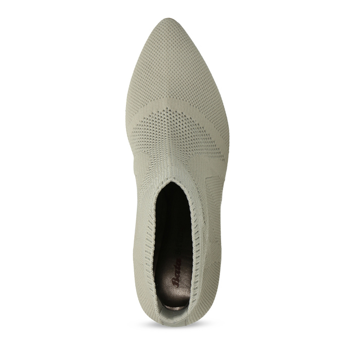 Dámske členkové topánky s metalickým podpätkom bata-b-flex, šedá, 799-2648 - 17