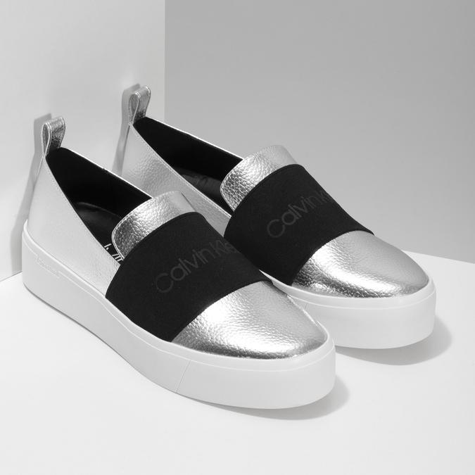 2cd58a4364 Calvin Klein Strieborné dámske slip-on tenisky - Všetky topánky ...