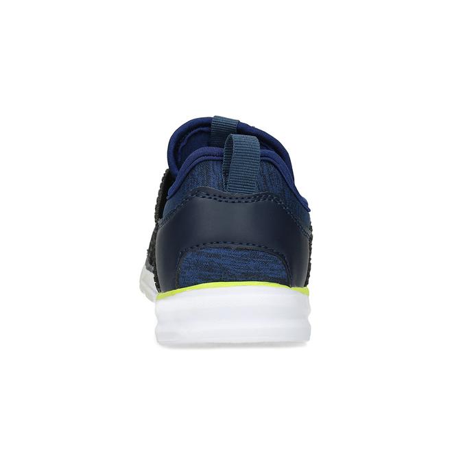 Modré detské tenisky s neonovým detailom mini-b, modrá, 319-9396 - 15