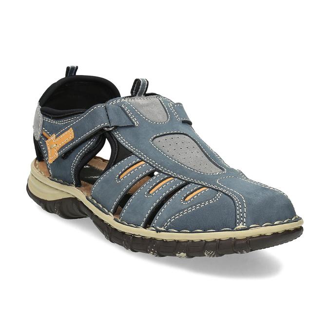 af0113500c614 Bata Modré pánske ležérne kožené sandále - Všetky topánky | Baťa.sk