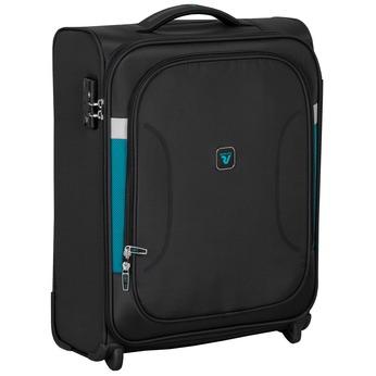 Čierny textilný cestovný kufor roncato, čierna, 969-6726 - 13