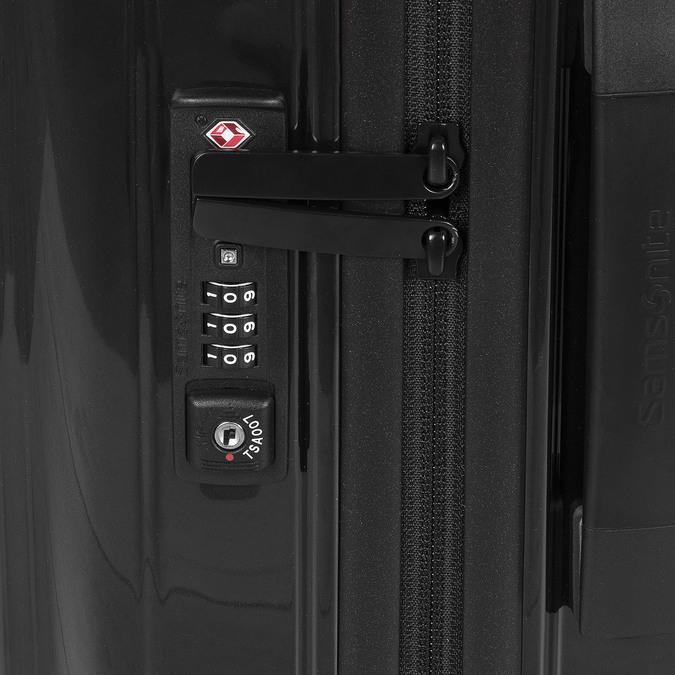 Škrupinový kufor na kolieskach samsonite, čierna, 960-6031 - 15