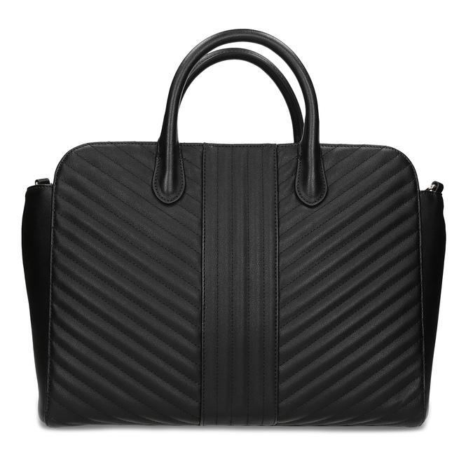 Čierna kabelka na notebook s prešívaním bata-red-label, čierna, 961-6950 - 26