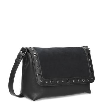 Čierna Crossbody kabelka s kovovými cvokmi bata, čierna, 961-6711 - 13