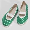 Zelené detské prezuvky s bodkami bata, zelená, 379-7100 - 16