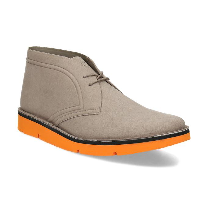 Členková pánska obuv s oranžovou podrážkou bata-b-flex, šedá, 899-8600 - 13