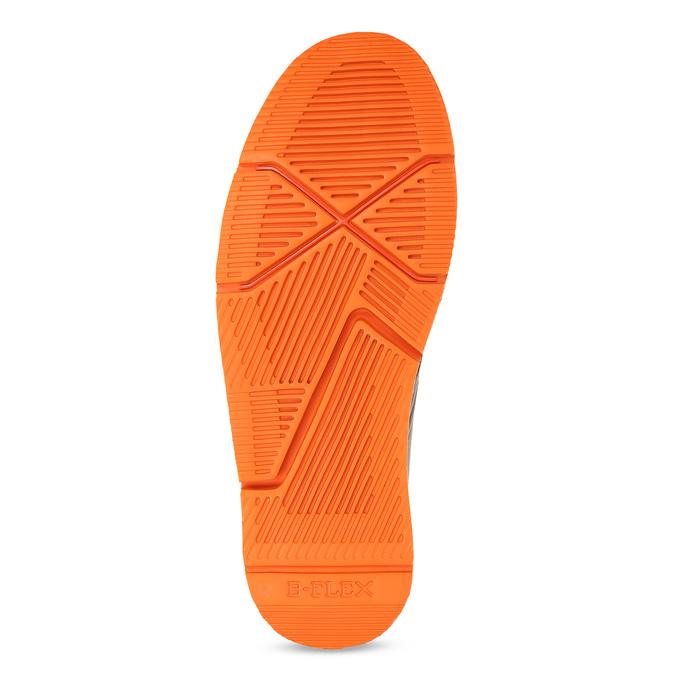 Členková pánska obuv s oranžovou podrážkou bata-b-flex, šedá, 899-8600 - 18