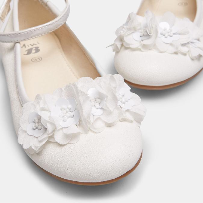 Dievčenské biele baleríny s kytičkami mini-b, biela, 321-1162 - 16
