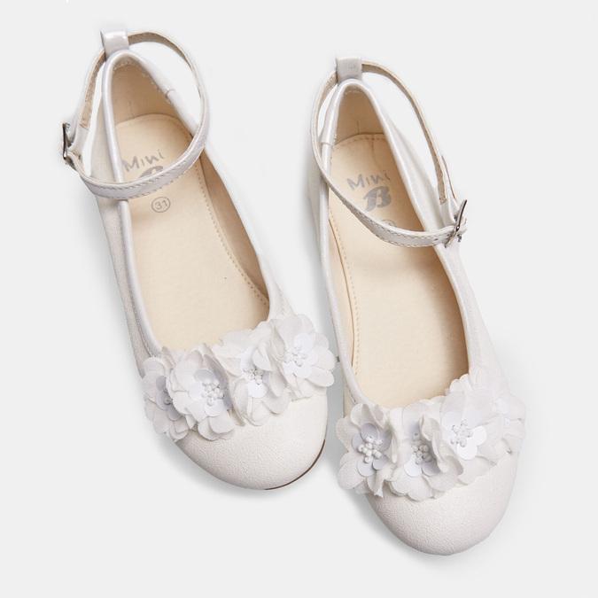 Dievčenské biele baleríny s kytičkami mini-b, biela, 321-1162 - 26