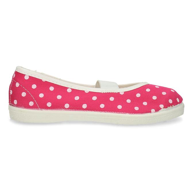 Ružové detské prezuvky s bodkami bata, ružová, 279-5102 - 19
