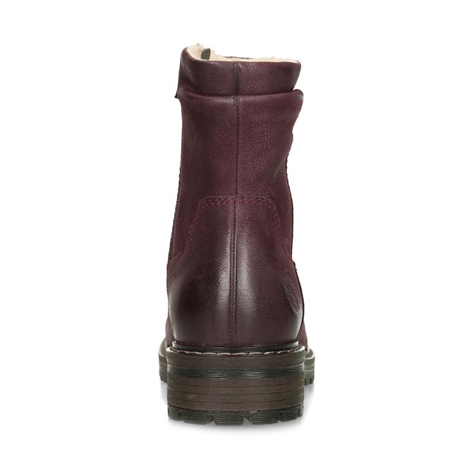 Dámske červené kožené zimné čižmy bata, červená, 596-5703 - 15