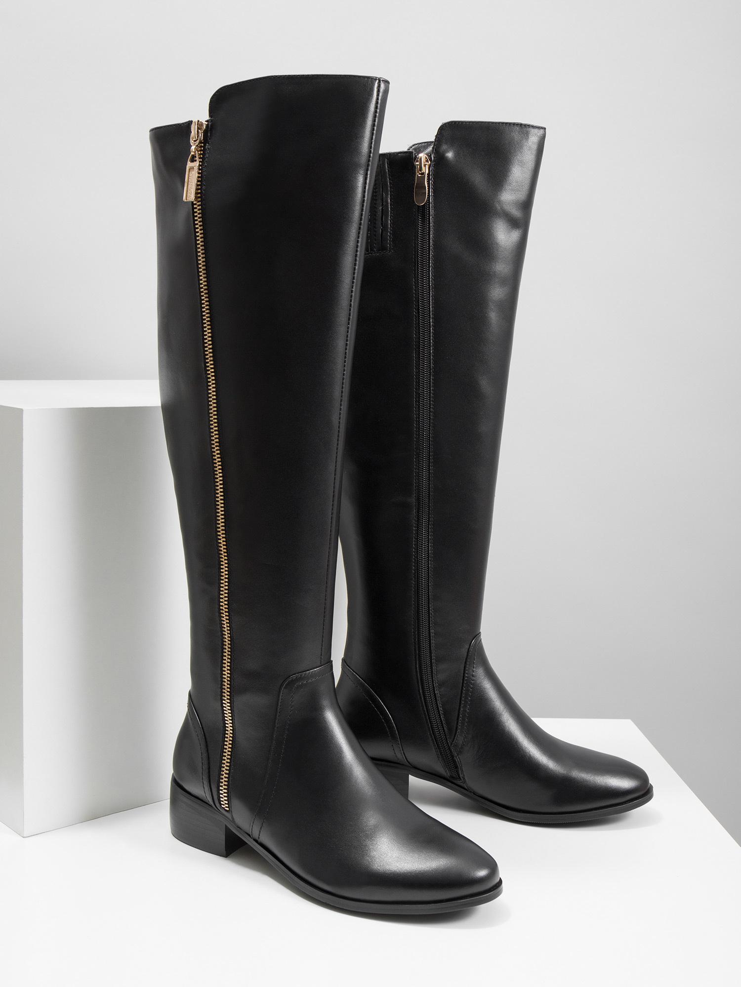 460dacdebf Baťa Kožené dámske čižmy so zipsom - Všetky topánky