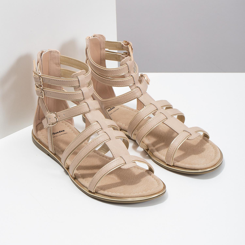 fd97596a1471 Baťa Béžové dámske sandále Gladiátorky - Sandále