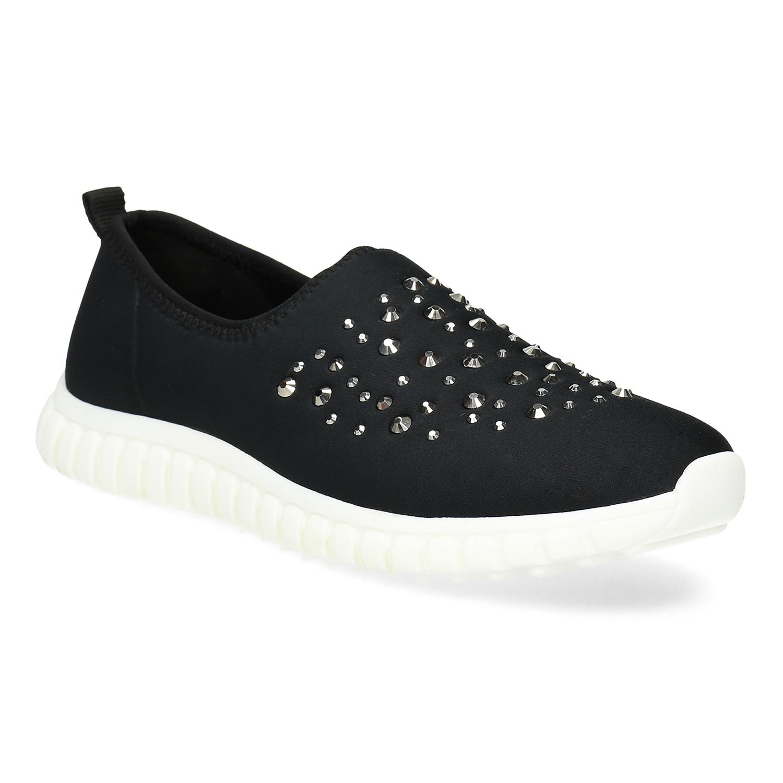 4896d36bf Dámska nazúvacia obuv s kamienkami bata-red-label, čierna, 539-6604 ...