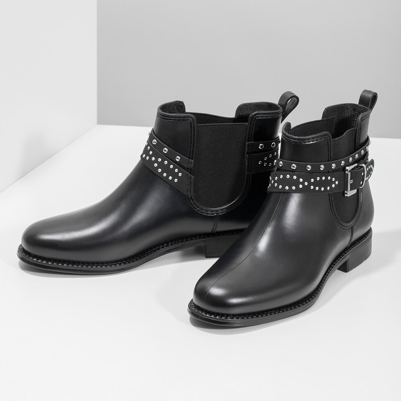 bc3c8d00a4563 ... Členkové dámske gumáky s prackou bata, čierna, 592-6601 - 16 ...