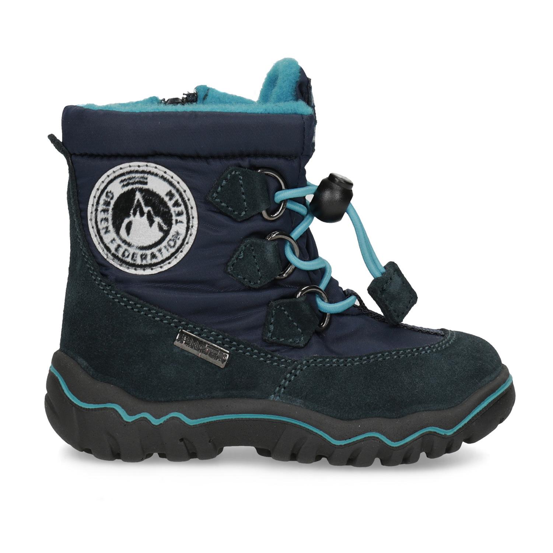 729905935cc07 Bubblegummers Detské modré zimné topánky - Na ihrisko aj do prírody ...