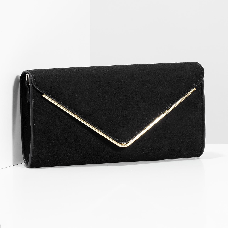 97fbbb3f2a Bata Čierna listová kabelka so zlatou retiazkou - Malé kabelky