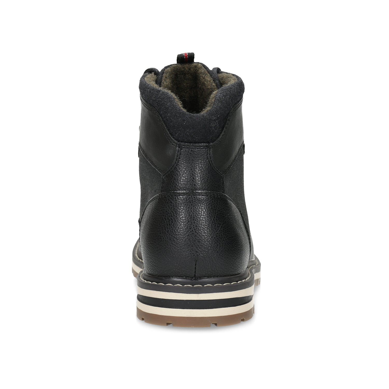 Bata Red Label Čierna pánska členková zimná obuv - Zľavy  b20c6cdddef