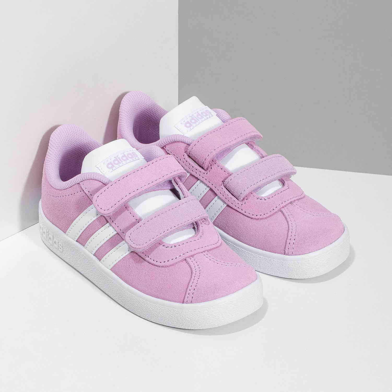 8273d03e6b6d6 ... Ružové kožené detské tenisky adidas, ružová, 103-5203 - 26 ...