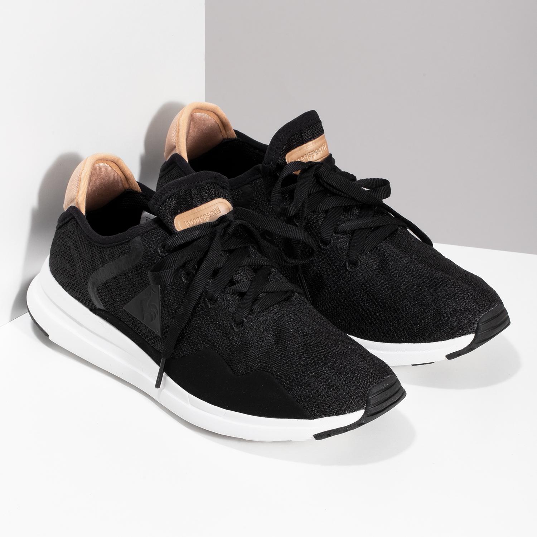 dfea00e2b383f ... Čierne dámske tenisky so zlatými detailami le-coq-sportif, čierna, 509-  ...