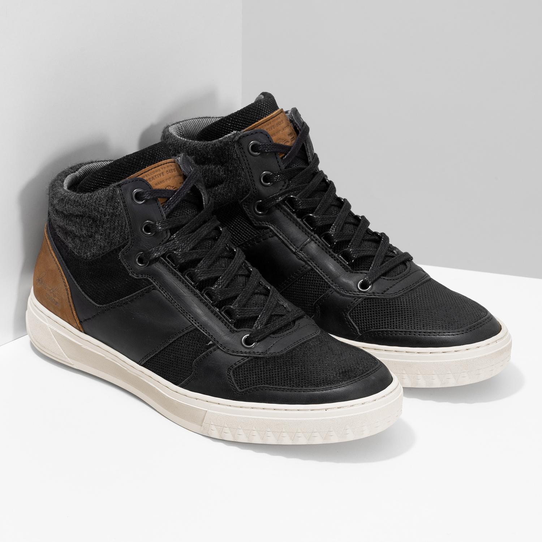 0530bb9c19772 ... Čierne členkové pánske tenisky bata, čierna, 846-6722 - 26 ...