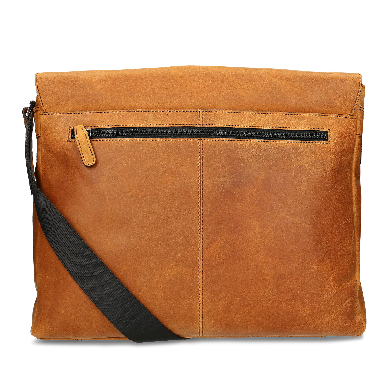 35962fa4f4 Bata Pánska kožená brašna na notebook - Trendy prepletanie
