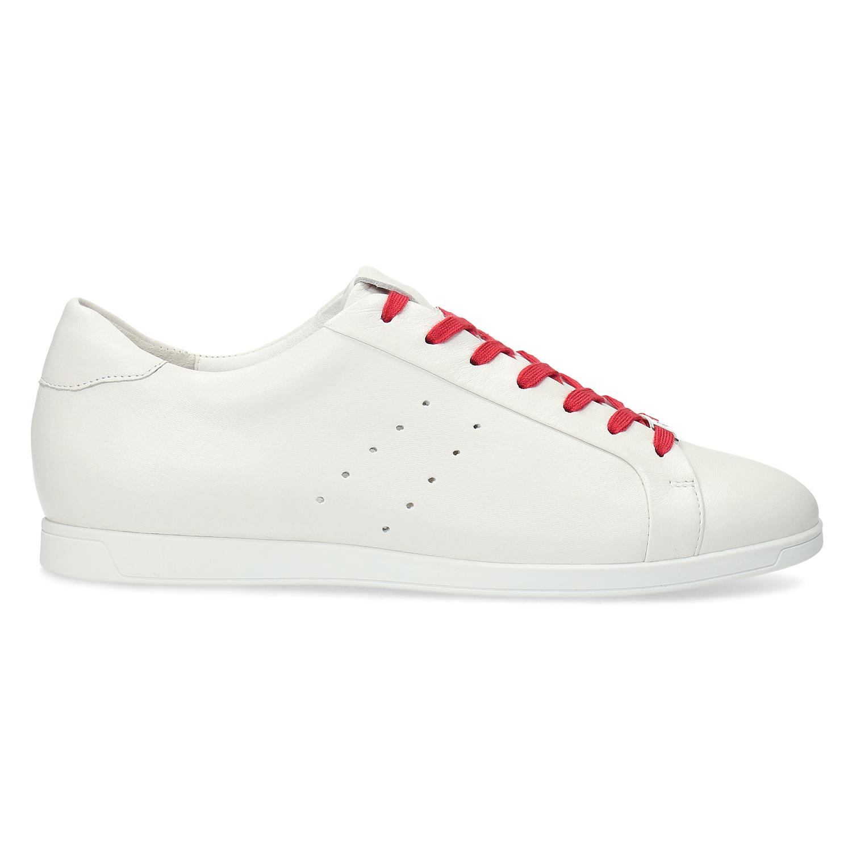 ec11e6ac6dcb Hogl Kožené biele tenisky s červenými šnúrkami - Hogl