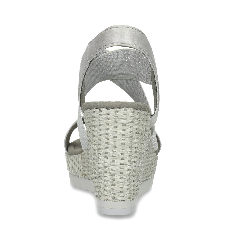 cc1b975467c85 ... Strieborné dámske sandále na platforme gabor, strieborná, 769-1645 - 15  ...