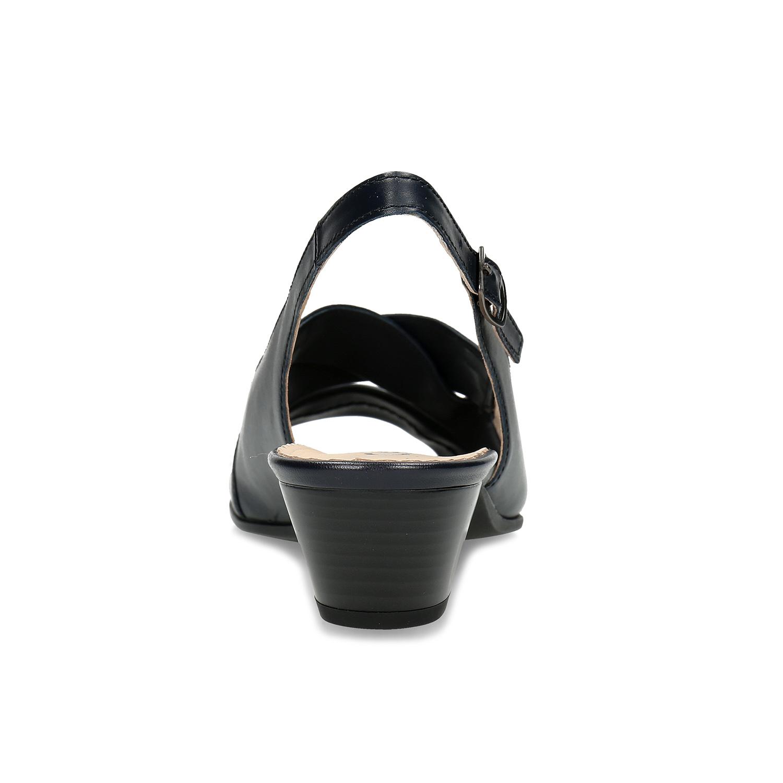613efec224 Gabor Čierne kožené lodičky s otvorenou pätou - Všetky topánky