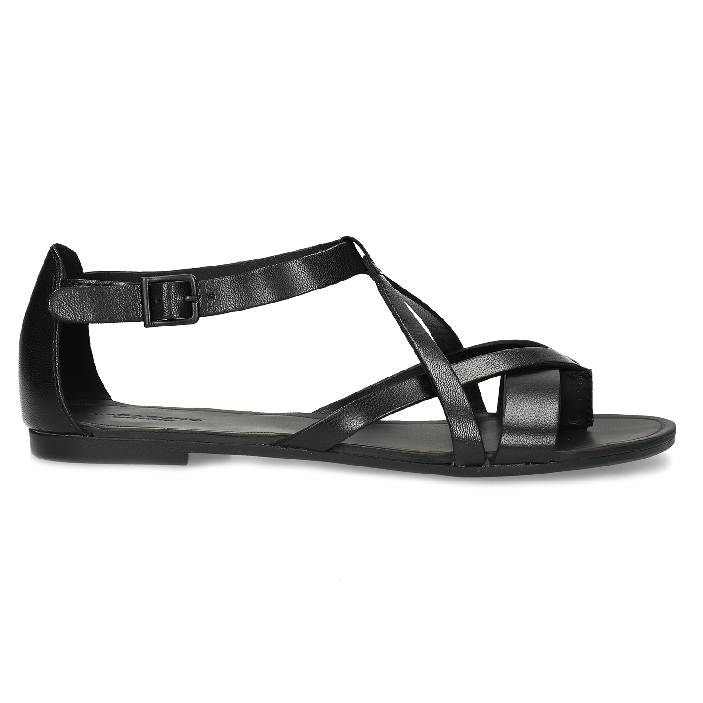 0abd422d77cc Vagabond Čierne dámske kožené sandále - Všetky topánky